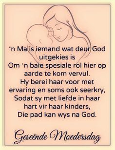'n Ma is iemand wat... #Afrikaans #MamaMia #Moedersdag Mom Poems, Mothers Day Poems, Mother Poems, Happy Mother Day Quotes, Daughter Quotes, Mom Quotes, Quotes For Him, Funny Quotes, Life Quotes