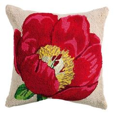 Hooked Flower Pillows - Decorative Pillows - Home Accents - Home Decor | HomeDecorators.com, found on #polyvore.
