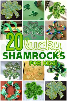 A lot of fun, and cute, shamrock crafts the kids can make