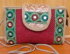 Handbag/jute bag/  boho bag /colorful bag / purse /tribal bag/