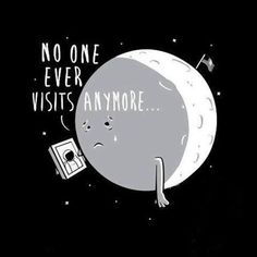 Poor moon - Happy drawings :)