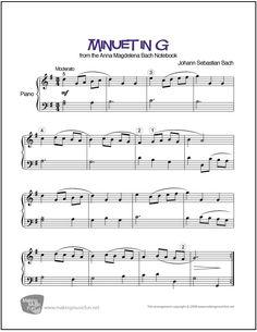 Minuet in G Major (Bach/Petzold) | Sheet Music Piano (Digital Print)