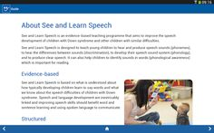 See and Learn-- app by Down Syndrome Education Enterprise