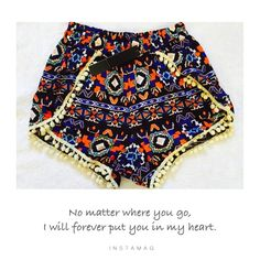 🎯Printed Pom Pom shorts Beautiful printed Pom Pom shorts in small, Medium ,large and extra large .100% polyester . 🚫Please ask me the size you want I will create individual listing for u . Other colors also available . Shorts