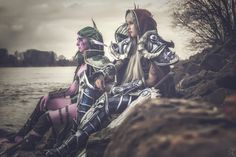 World of Warcraft - Death Knight and Maiev Shadowsong Cosplay by Cira Las Vegas ∙ Mirror Maid and Lightning Cosplay Photo by Pützografie - Fotografie & Bildbearbeitung