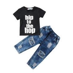 b56e47bab8ac Hip To The Hop Distressed Jeans Set – In The Limelight Holey Jeans, Pants  Outfit
