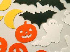 Halloween Confetti Bats Ghosts Pumpkins Moon by FeistyFarmersWife, $3.50 #HalloweenIdeas