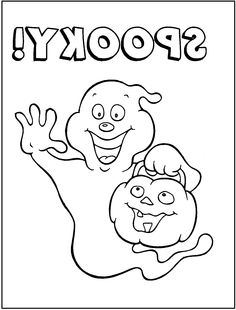Halloween Ghost Spooky Coloring Pages For Kids Printable