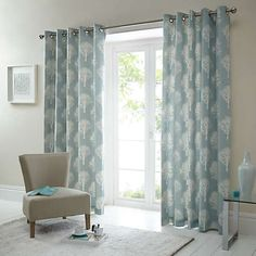 Woodland Trees Pair of Eyelet Lined Curtains