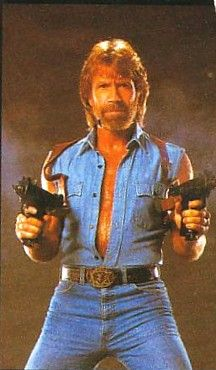 """Chuck Norris is the only person on the planet that can kick you in the back of the face. """