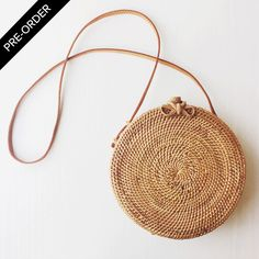 PRE-ORDER. Available to ship April 3, 2017100% handwoven rattanLeather ...