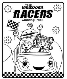 Team Umizoomi racers coloring pack!