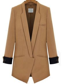 Lapel Fitted Camel Blazer