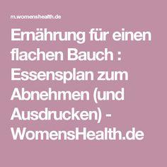 Ernährung für einen flachen Bauch : Essensplan zum Abnehmen (und Ausdrucken) - WomensHealth.de