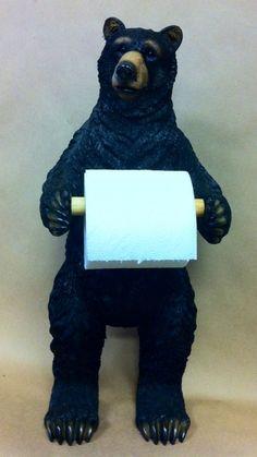 Standing Black Bear Toilet Paper Holder For 39 99