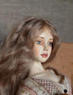 Купить Шарнирная кукла Ляля - бежевый, кукла, авторская кукла, шарнирная кукла, бжд