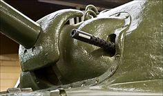 Surviving Sherman M4A1 British Medium Tank. Sherman M4A1 Tank co-axil turret machine gun