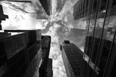 A slight different composition in this series of clouds melting into the mirrors of Times Squares skyscrapers of Manhattan. thank you all dearly my friends! Shutter Speed, Niagara Falls, Exterior Design, Scene, Clouds, Mirrors, Urban, Black And White, Skyscrapers