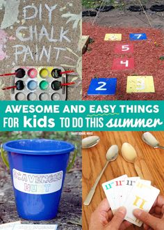 Awesome and Easy Things for Kids to do This Summer! Crafts, recipe ideas, and easy DIY projects for kids.