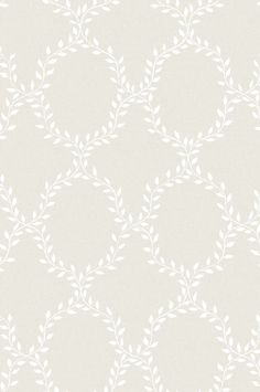Wallpaper Wilma grey is a classic and extremely popular pattern, which makes the wall appear covered in laurel wreaths. Here with a white leaf pattern on pale grey. Swedish Wallpaper, Victorian Wallpaper, Classic Wallpaper, Grey Wallpaper, Butterfly Wallpaper, Pattern Wallpaper, Sandberg Wallpaper, Wallpaper Ideas, Picture Arrangements