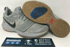 778e81147d72 Nike Paul George PG 1 Baseline Wolf Grey Gum Thunder 878627-009 Size 13