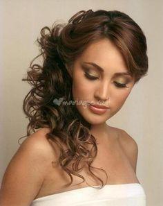de rester avoir les certainement envie coiffures mariage ides coiffures vous aurez filles qui demi queu mariag cheveux attachs - Coiffure Mariage Cheveux Mi Long Lachs
