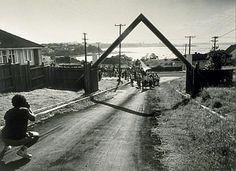 Arriving at Takaparawha Marae, Orakei, late afternoon, 31 January