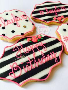 Kate spade theme party cookies 13th Birthday Parties, 60th Birthday Party, Mom Birthday, Birthday Cookies, Birthday Ideas, Paris Birthday, Kate Spade Party, Sweet Sixteen Parties, Cute Cookies