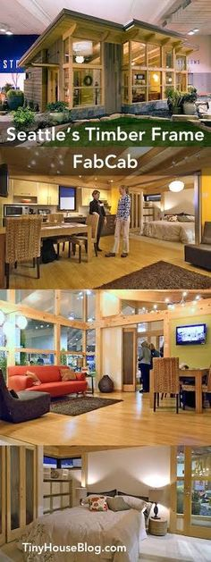Seattle's Timber Frame FabCab PreFab cabin - this would be a fabulous home nestled away in the Appalachian mountains