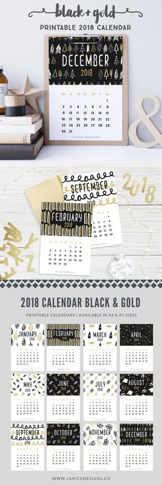 Printable Budget Sheets, Printable Coloring Sheets, Free Printable Calendar, Printable Stickers, Printable Planner, Printables, Calendar 2018, Monthly Calendars, Wall Calender