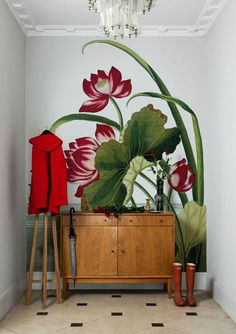 Traditional Home; If you love a room filled with fresh flowers, check out the big blossoms blown into giant wall murals by Surface View, a British company that recently teamed up with the New York Botanical Garden. Surface View turns sumptuous prints from the Botanical Garden's library into murals, wallpaper, canvas, blinds, tiles and window film. For more, tap into www.surfaceview.co.uk Surface View