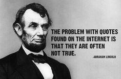 Threethirtypm • Stuff Lincoln didn't say 150 years ago...