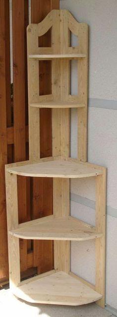 Pallet Project - Pallet Corner Shelf