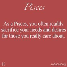 Pisces - sacrifice