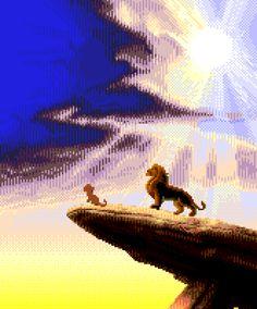 The Lion King, Megadrive / Genesis Classic Video Games, Sega Genesis, Pixel Art, Old School, Videogames, Indie, Nostalgia, Lion, Gaming