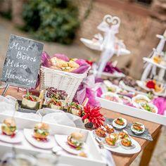 Kreative Ideen für das Büffet einer Hochzeit