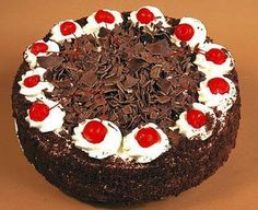 how to make eggless black forest cake recipe eithout oven at home in Telugu vantalu on the eve of christmas and new year occasion Easy Desserts, Dessert Recipes, Yummy Recipes, Cake Recipes Without Oven, German Baking, Black Forest Cake, Cake Truffles, Cupcakes, Gourmet