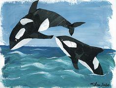 Art idea for ocean unit - killer whales