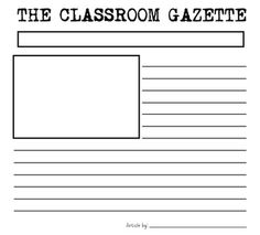 magazine storyboard template - 1000 images about grade 6 newspaper unit on pinterest
