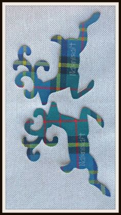 2x5in D8.Multicoloured Tartan, Scottish Deer,Wool Fabric,Cut Out, Iron On, Appliqués> by Nairncraft on Etsy £2.66 plus P&P