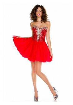 2013 Style A-line Sweetheart Sleeveless Short/Mini Tulle Unique Homecoming Dresses/Red Prom Dresses #FD016