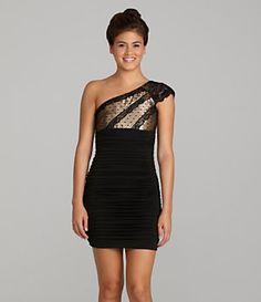 Jessica McClintock One-Shoulder Dress | Dillard's Mobile