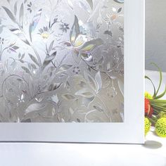 Vakker Bahay Plastic Non Adhesive Privacy Window Film Front Sliding Door Glass Film Home Office Shower Privacy Window Film,23.6 by 78.7 Inches
