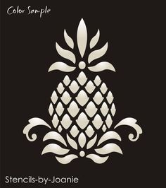 Primitive Pineapple STENCIL Colonial Folk Art Historic Family Welcome Home decor in Crafts, Home Arts & Crafts, Decorative & Tole Painting, Stencils Stencils, Stencil Decor, Stencil Painting, Tole Painting, Primitive Homes, Country Primitive, Primitive Decor, Primitive Patterns, Stencil Patterns