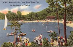 Virginia Postcard...Fairy Stone State Park