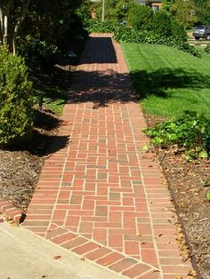 herringbone brick walkway