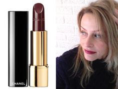 Chanel Rouge Allure in Rouge Noir. Worth a try.