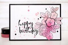 Watercolor Happy Birthday by Els Brigé