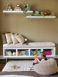 the boo and the boy: reading nooks for kiddos *paint cedar chest and place throw pillows on for reading nook