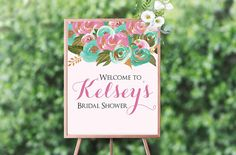 Printable Welcome Sign 8x10 Bridal Shower Gold